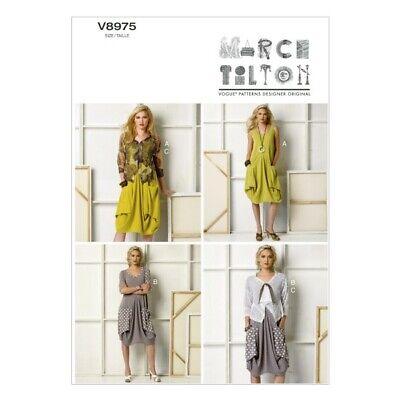 Vogue Sewing Pattern V9112 Women/'s High Neck Sleeveless Dress