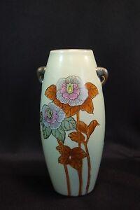 Vintage Nippon Hand Painted Floral Vase