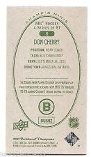 11/12 PARKHURST CHAMPIONS CHAMP'S MINIS GREEN BACK PARALLEL Don Cherry #8