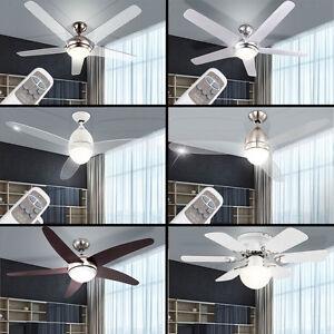 LED-Decken-Ventilator-LEISER-Klima-Kuehler-Luefter-FERNBEDIENUNG-mit-Beleuchtung