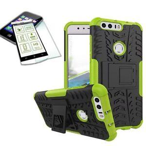 Hibrido-Funda-Estuche-Exterior-2-Piezas-Verde-para-Huawei-Honor-8-Cristal-Duro