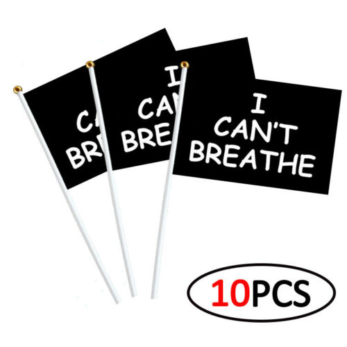 Details about  /10PCS I CAN/'T BREATHE Flag Banner Wall Hanging Advertising Flags American Black