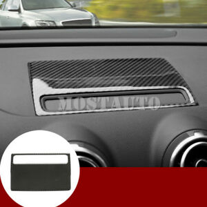 For Audi A3 S3 Carbon Fiber Dashboard Gps Navigation Trim Cover 1pcs
