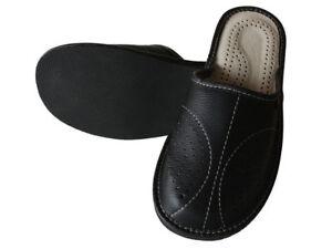 Detalles de Pantuflas de Piel de Oveja para Hombre Zapatillas de andar por Casa Cuero Lana