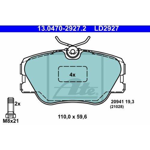HINTEN MERCEDES-BENZ 190 E 2.0 ATE ORIGINAL CERAMIC BREMSENSET KOMPLETT VORNE