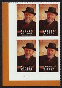 #5555 Agosto Wilson, Placa Bloque [P11111 Ll ] Nuevo Cualquier 5=