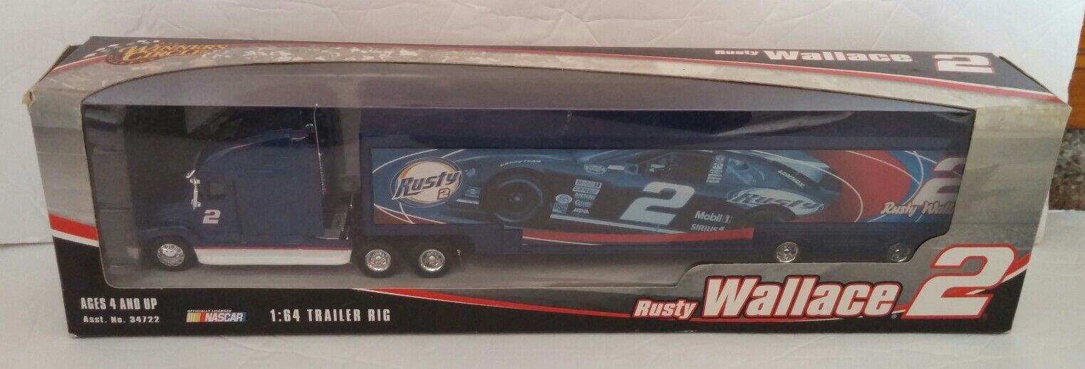 2005 Winner's Circle Nascar Rusty Wallace Trailer Rig 1 64