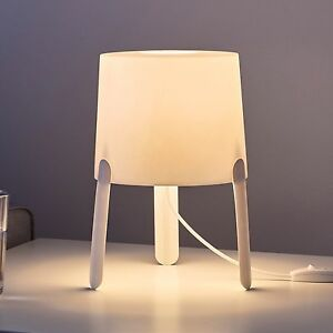 Ikea tvrs tvars white modern minimalist table lamp 17x18cm ebay image is loading ikea tvars tvars white modern minimalist table lamp aloadofball Images