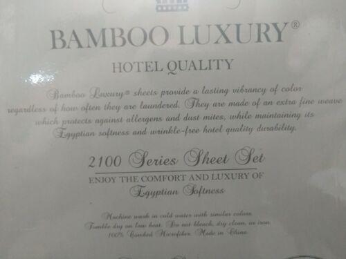 PURPLE  REGAL COMFORT BAMBOO LUXURY AND OR VIRAH BELLA  6 PIECE SHEET SET KING