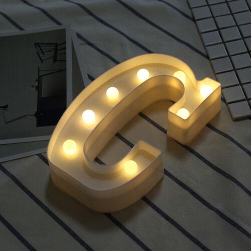 Alphabet LED Letter Lights LED Light Up Plastic Letters Standing// Hanging RQ