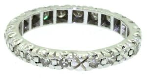 Antique-Platinum-50CT-diamond-eternity-band-ring-size-6