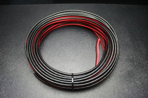 8 GAUGE 50 FT RED BLACK ZIP WIRE AWG CABLE POWER GROUND STRANDED COPPER CAR