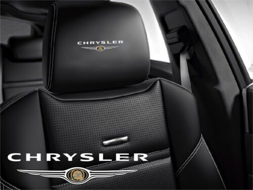 5x Chrysler Symbol logo for leather seats and other flat and smooth surfaces
