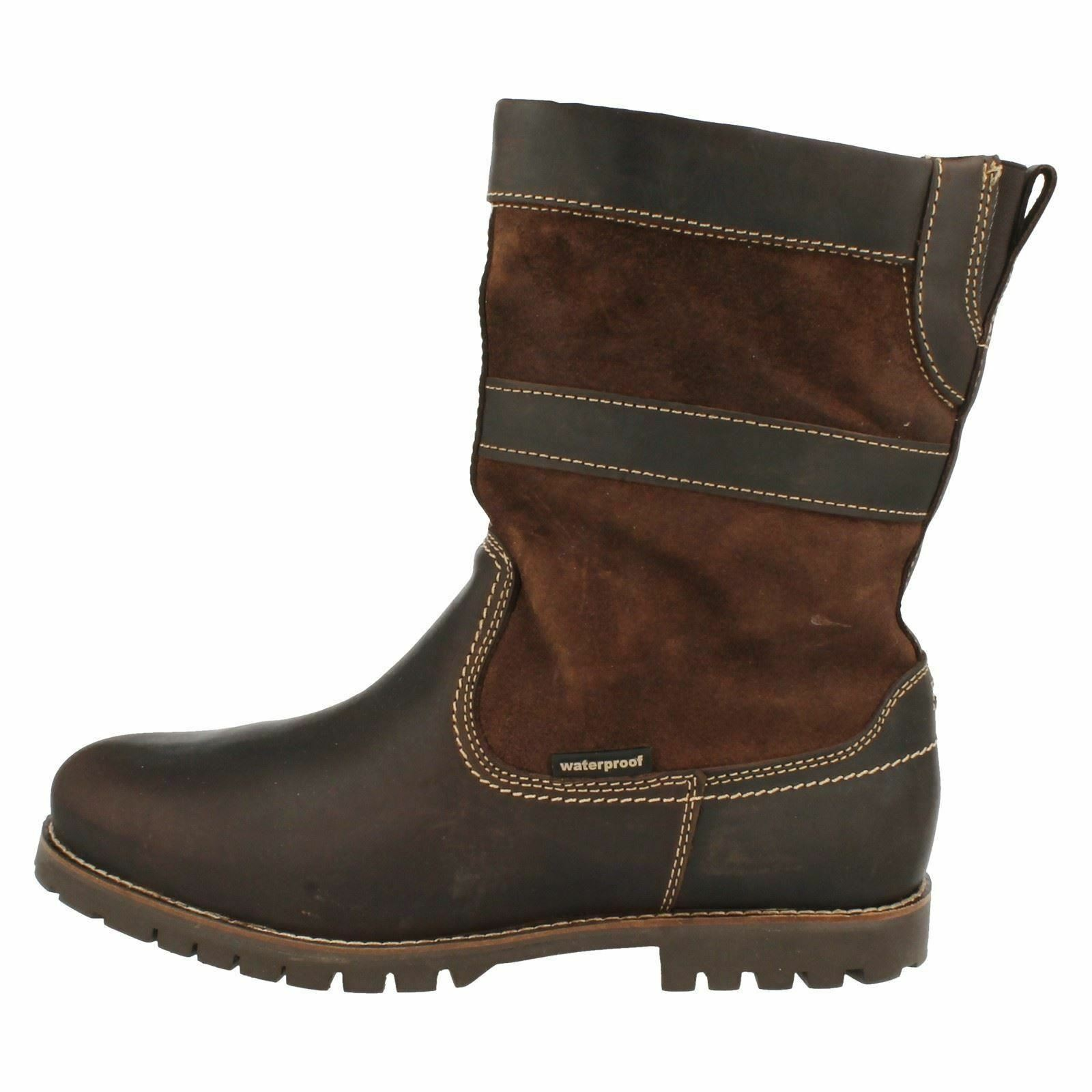 Uomo Patric Braun Leder / by suede pull on boot by / Human Nature 2f8842