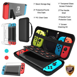 For Nintendo Switch / Lite Storage Bag + Case + Screen Protector + Accessories