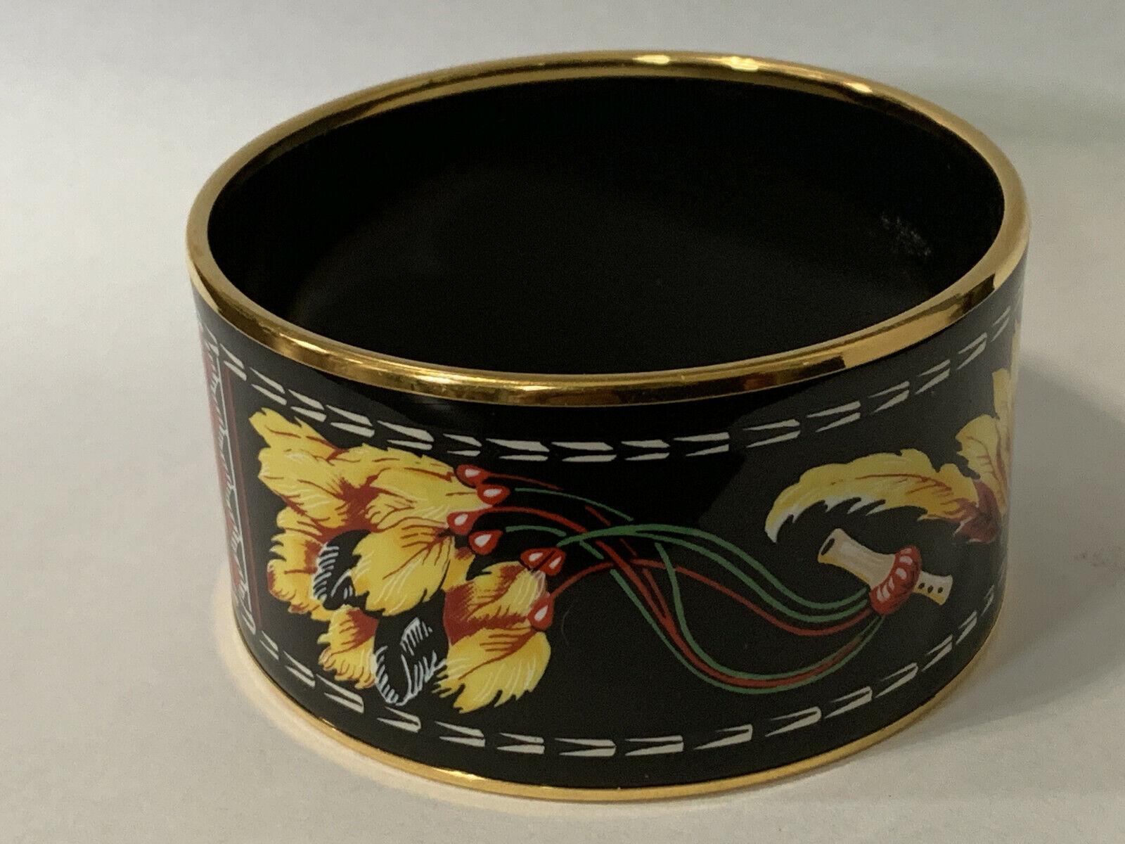 """Vintage Hermes """"Brazil"""" Wide Bangel Bracelet - image 4"""