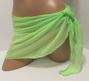 Mini Sheer 10/' //11/'   White Sarong Bathingsuit Cover Up Dance Wear made in usa