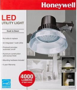 Honeywell Bright 42 Led 4000 Lumens Dusk To Dawn Utility