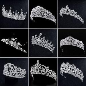 Birthday-Diadem-Wedding-Bridal-Crown-Crystal-Rhinestone-Water-Drop-Shape-Tiara