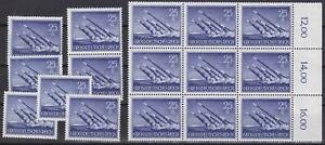 16-NAZI-3rd-Reich-MNH-ROCKET-LAUNCHER-Stamps