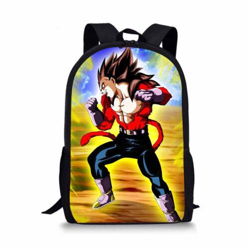 Dragon Ball Gt Super Saiyan 4 Son Goku/&Vegeta Backpack Student School Book Bags