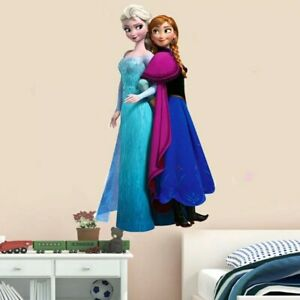 Frozen Sisters love Wall Sticker Nursery Kids Room Removable Mural Decal Decor