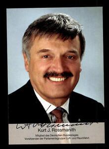 Genossenschaft Kurt J Politik Rossmanith Autogrammkarte Original Signiert ## Bc 90067