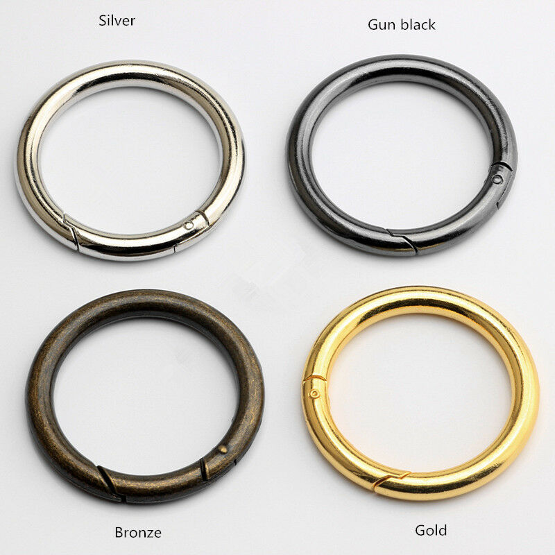 49mm Round Snap Hook Carabiner Hooks Snap-action Spring Conn 4 color 2-100x