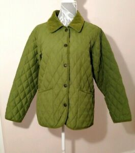 John-Partridge-Women-039-s-Green-Quilted-Hand-Made-Country-Jacket-w-Pockets-Medium