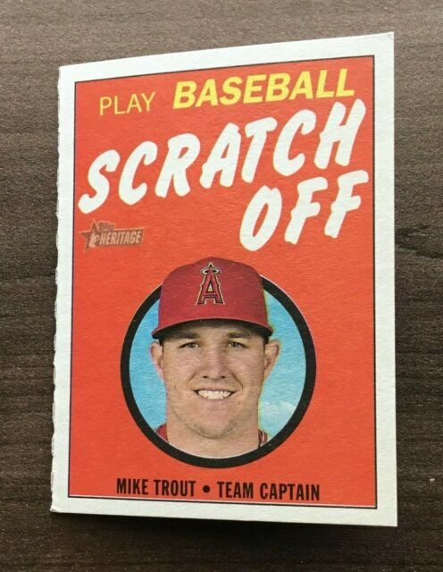2019 Topps Heritage 1970 Topps Scratch Off Inserts ~ Pick your Card