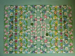 Rosen+Blumenranken-GLANZBILDER,Borten.Puppenstube,zum Selbstgestalten,1:12,DEKO