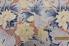 "Vintage 1970's ""Manndhara"" Cotton Drapery Upholstery Fabric Per Yard  980-408848"