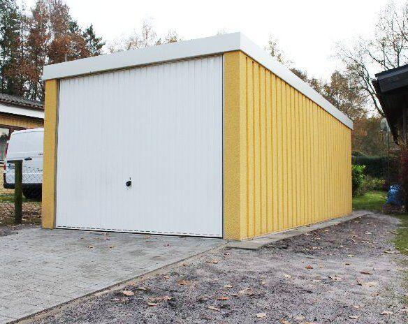 Profi+L Stahlgarage Auto Box Lager ca 2,7m x 6m profil verputzt Hörmann Tor