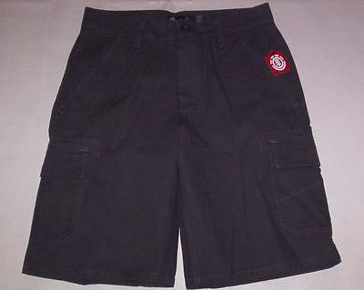 New Element Classic Gray 7 Pockets Cotton Cargo Flat Front Shorts Men's Size  29