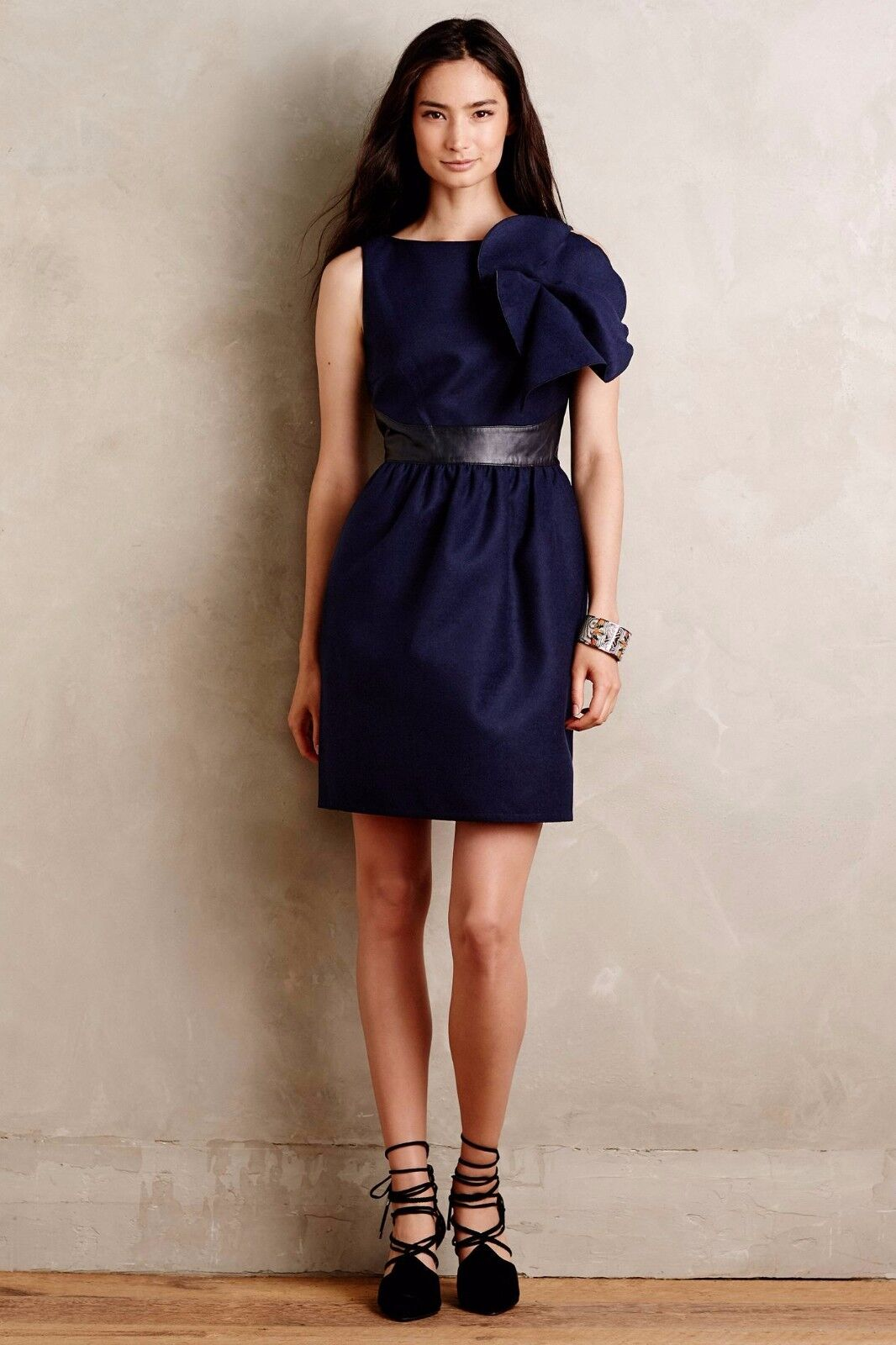 58d995f0688fc9 NWT ANTHROPOLOGIE MARIGNY CINCHED SHIFT DRESS by RAOUL 12 ...