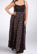 Torrid Floral Lace Inset Maxi Dress Size 1 14 16 xl #01466