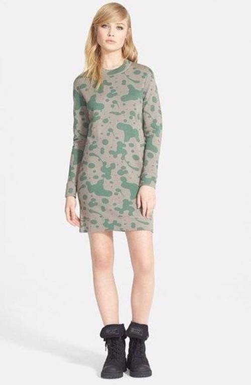 298 MARC by MARC JACOBS MAGNIFIED OIL DROPS SWEATER DRESS S