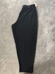 Pfi elastische 5x broek 401 Fashions Sz zwarte taille Nieuwe met dAaqg4xwdX