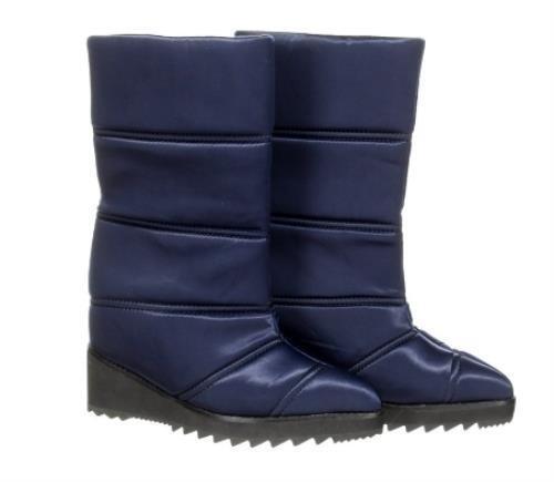 Jeffrey Campbell Squall Wedge Shaft Stiefel Waterproof Winter Stiefel Blau Größe 7