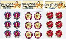 3 New Packs Vintage 1984 GARFIELD the Cat Super Summer 84 Stickers! 18 Stickers!