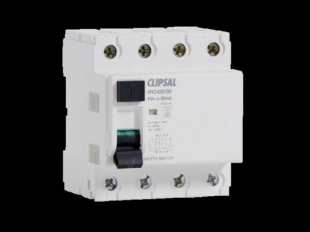 4RC425/30 Clipsal 25 Amp RESIDUAL CURRENT CIRCUIT BREAKER 4 Poles 415V