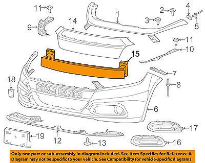 Dodge CHRYSLER OEM Dart Front Bumper-Impact Reinforcement Bar Rebar 68082361AB
