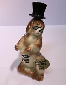 Hickok-Gift-Japan-Rye-Whisky-Ceramic-Bar-Hound-Dog-Top-Hat-Decanter