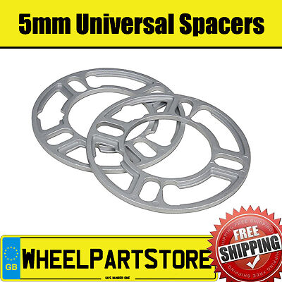 Pair of Spacer Shims 4x100 for Fiat Grande Punto 06-12 5mm Wheel Spacers