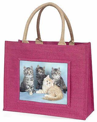 Cute Flauschig Kätzchen Große Rosa Einkaufstasche Weihnachten Geschenkidee,