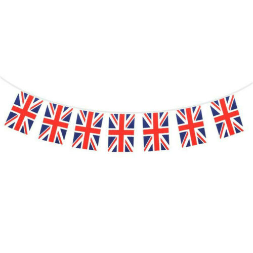 8M 25Flags Union Jack Bunting Banner Great Britain 75th Anniversary Party Decor