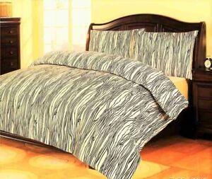 Queen Size Quilt Doona Duvet Cover Set  Zebra print