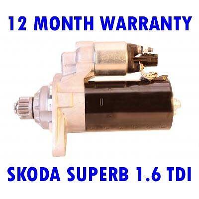 SKODA SUPERB 1.6 TDI 2010 2011 2012 2013 2014 2015 RMFD STARTER MOTOR