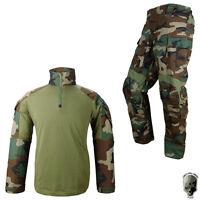 Tmc G3 Airsoft Uniform Set Combat Suit Wargame Bdu Clothing Paintball Woodland