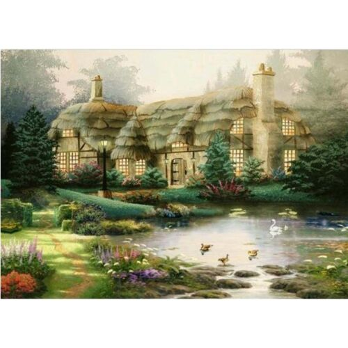5D Embroidery Painting Rhinestone Countryside Villa Diamond Cross Stitch D Udww